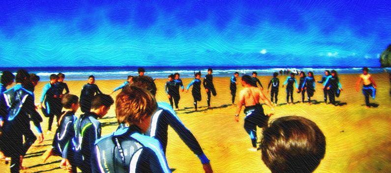 Campamento de verano para nudistas adolescentes