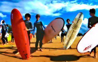 Preparéndose para el surfing