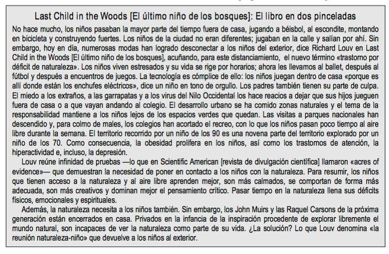 libro el ultimo niño de los bosques