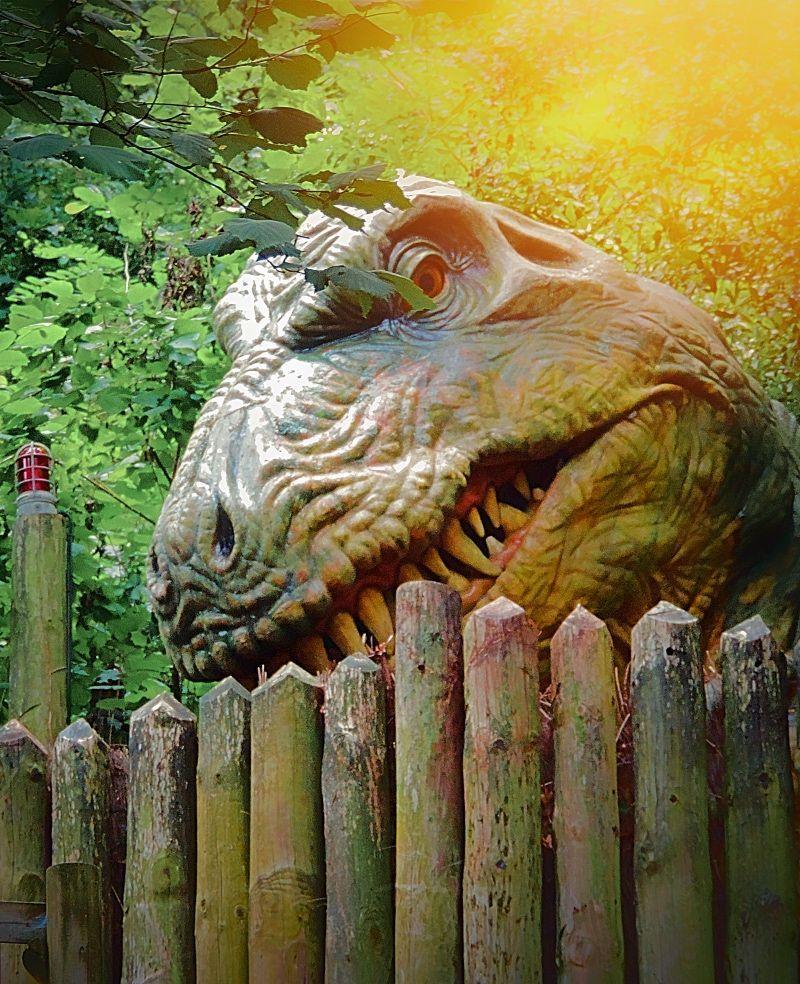 Dinosaurios animatrónicos