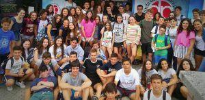 Un summer camp en el que todos los días vamos con algún grupo a la playa